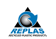 Replas is an Australian company that has developed world leading technology to reprocess plastic waste into a range of recycled plastic products. Logo