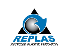 Replas is an Australian company that has developed world leading technology to reprocess plastic waste into a range of recycled plastic products. Sticky Logo