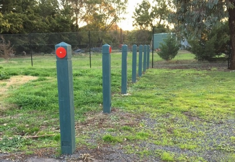 Modified Bollards Deter Vehicles And Provide Boundaries At